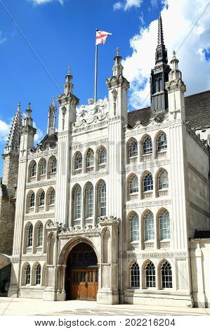 London, UK, July 7, 2007 : The Guildhall which is a popular tourist attraction in the London, UK
