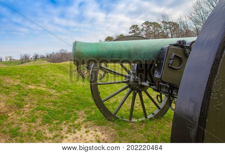 Cannon in the national park in Vicksburg Mississippi