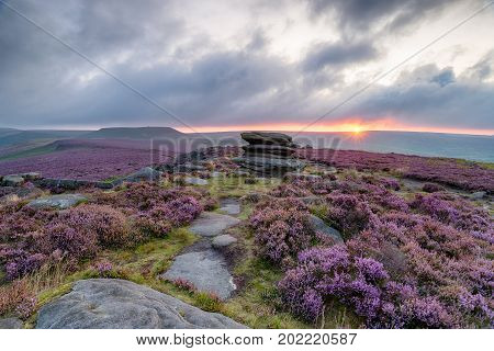 Over Owler Tor In The Peak District