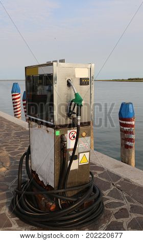 Old Gas Pump For Filling Ships