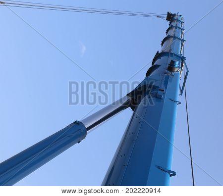 Immense Hydraulic Arm Of A Powerful Crane