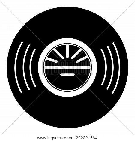 Vinyl record icon . Simple illustration of vinyl record vector icon for web design isolated on white background