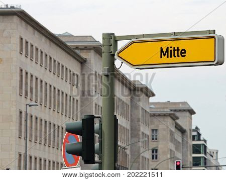 Arrow With Text Mitte The Most Central District Of East Berlin I