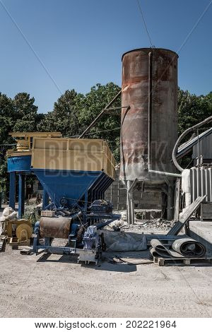 Cement Blocks Equipment. Equipment For The Production Of Cement Blocks In A Small Cement Factory.