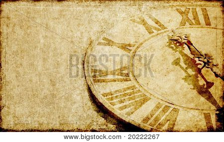 schöne Hintergrundbild mit eine antike Uhr-Gesicht