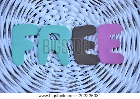 word free on a  abstract colorful background