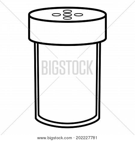Salt shaker icon. Outline illustration of salt shaker vector icon for web design isolated on white background