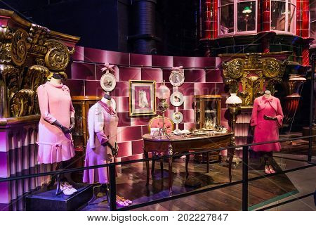 The Set Of Professor Dolores Umbridge Pink Office Leavesden, Uk