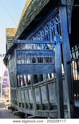 The Crooked Hogwarts Bridge, Leavesden, Uk