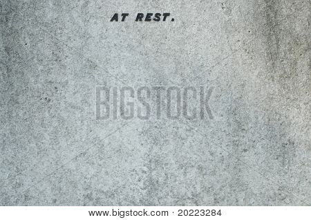 stone background with the inscription