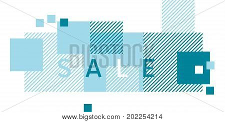 abstract dynamic composition. simple geometry header with stripe pattern modern decorative design element for web and print design with frames and squares.