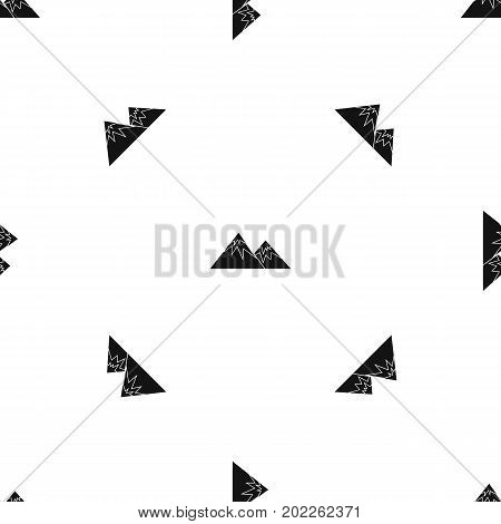 Swiss alps pattern repeat seamless in black color for any design. Vector geometric illustration