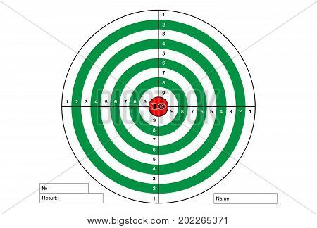Target shooting (green color with red centre)