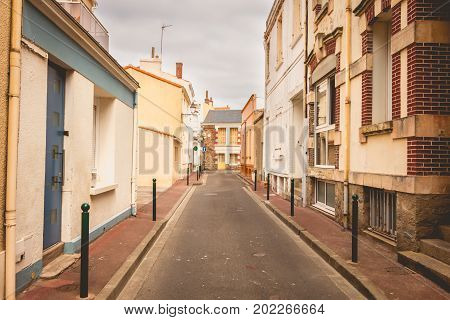 Typical Street Of Les Sables D Olonne, In France