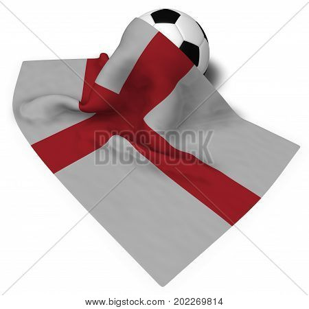 soccer ball and flag of england - 3d rendering