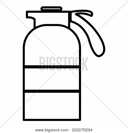 Sprayer container icon. Outline illustration of sprayer container vector icon for web design isolated on white background