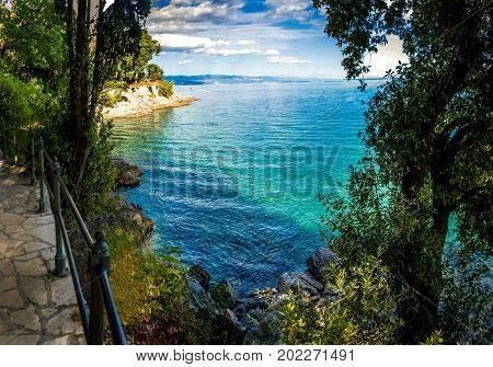 A nice lungomare by the sea in Opatija Croatia