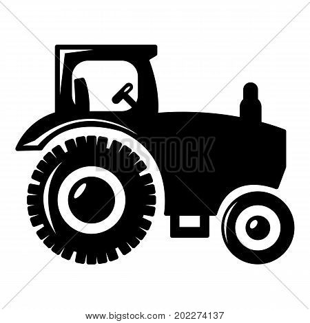 Tractor icon . Simple illustration of tractor vector icon for web design isolated on white background