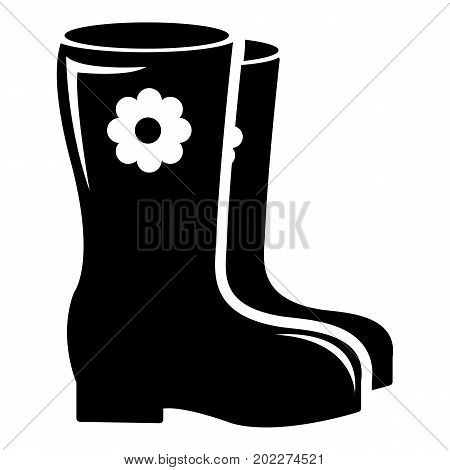Boots icon . Simple illustration of boots vector icon for web design isolated on white background