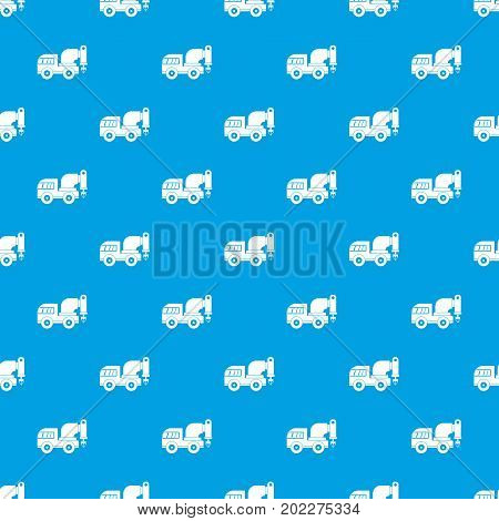Drilling machine pattern repeat seamless in blue color for any design. Vector geometric illustration