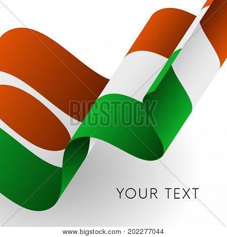 Niger flag. Patriotic design. Waving flag. Vector illustration.