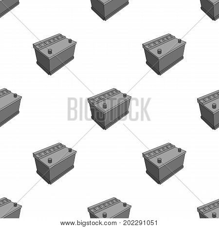 For automobile battery.Car single icon in monochrome style vector symbol stock illustration .