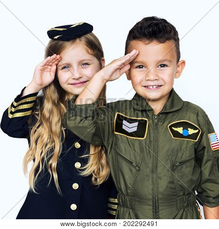 Kids with uniform dream job in the future