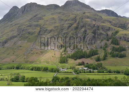 Langdale Pikes in the English Lake District