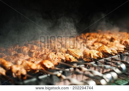 Delicious Fragrant Skewers Cooked In The Oven