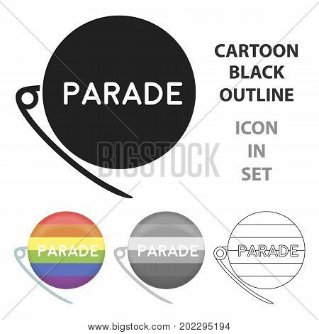 Gay parade icon cartoon. Single gay icon from the big minority, homosexual cartoon.