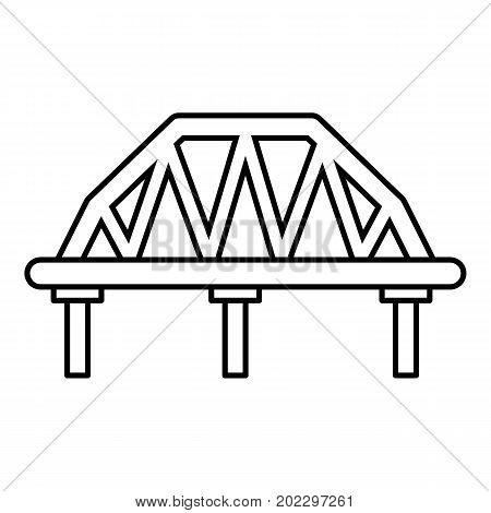 Arched train bridge icon. Outline illustration of arched train bridge vector icon for web design isolated on white background