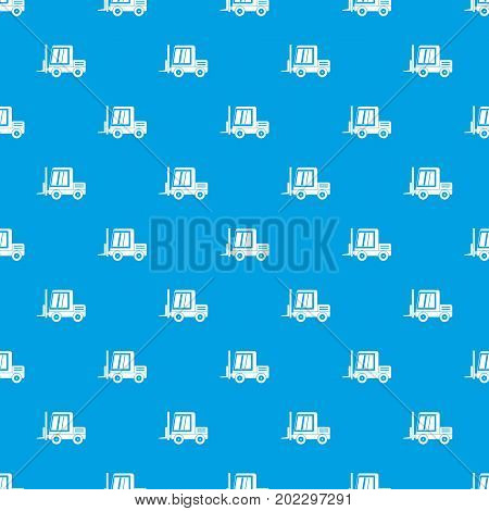 Stacker loader pattern repeat seamless in blue color for any design. Vector geometric illustration