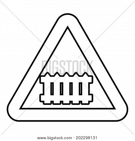 Crossing railroad barrier icon. Outline illustration of crossing railroad barrier vector icon for web design isolated on white background