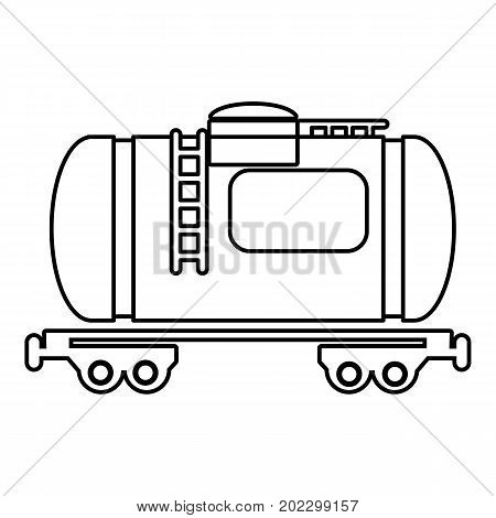 Gasoline railroad tanker icon. Outline illustration of gasoline railroad tanker vector icon for web design isolated on white background