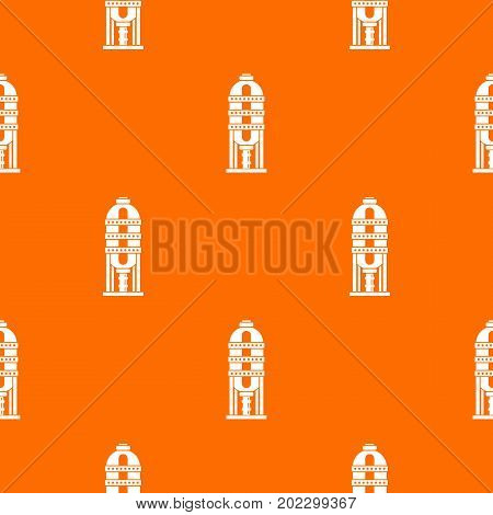 Capacity for oil storage pattern repeat seamless in orange color for any design. Vector geometric illustration