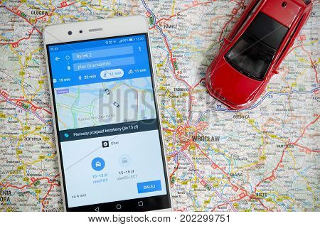Uber Sharing Economy Service In Wroclaw