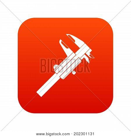 Calipers icon digital red for any design isolated on white vector illustration