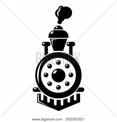 Locomotive icon . Simple illustration of locomotive vector icon for web design isolated on white background