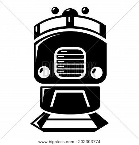 Train icon . Simple illustration of train vector icon for web design isolated on white background