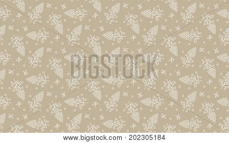 Decorative seamless pattern of a soft plant background