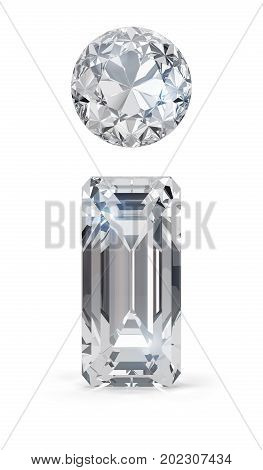 Diamond information icon. 3d image. White background.