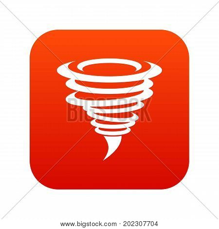 Tornado icon digital red for any design isolated on white vector illustration
