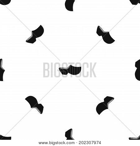 Clogs pattern repeat seamless in black color for any design. Vector geometric illustration