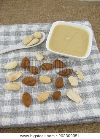 White almond mus in a little bowl