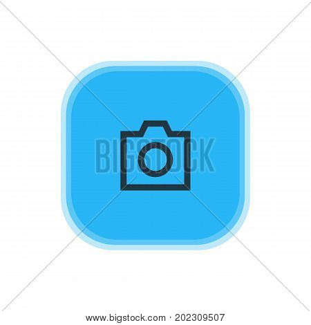 Beautiful User Element Also Can Be Used As Snapshot  Element.  Vector Illustration Of Camera Icon.