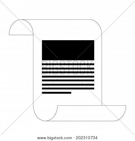 continuously sheet contract document black silhouette vector illustration