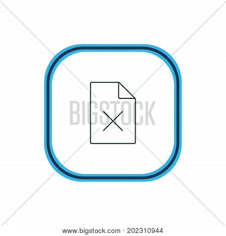 Beautiful Internet Element Also Can Be Used As Delete Data Element.  Vector Illustration Of Remove File Outline.