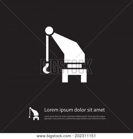 Industry Vector Element Can Be Used For Lifting, Industry, Hoisting Design Concept.  Isolated Lifting Icon.