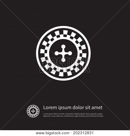Gambling Vector Element Can Be Used For Gambling, Lucky, Roulette Design Concept.  Isolated Lucky Icon.