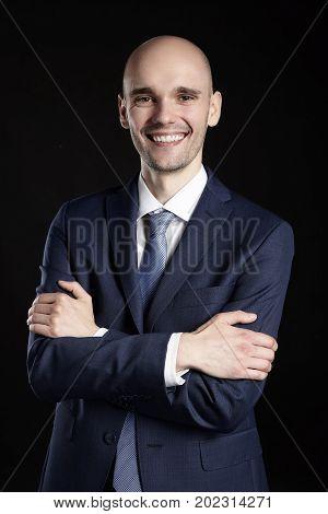 Elegant Man With Arms Crossed